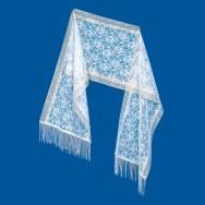 шарф с металлизированной нитью  20С11-Г10, рис.1183,  200х36 см,  цена 69,62 руб.